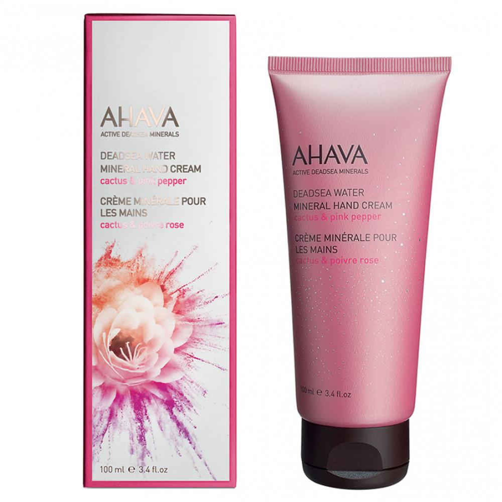 Минеральный крем для рук Ahava Deadsea Water кактус/розовый перец 100 мл