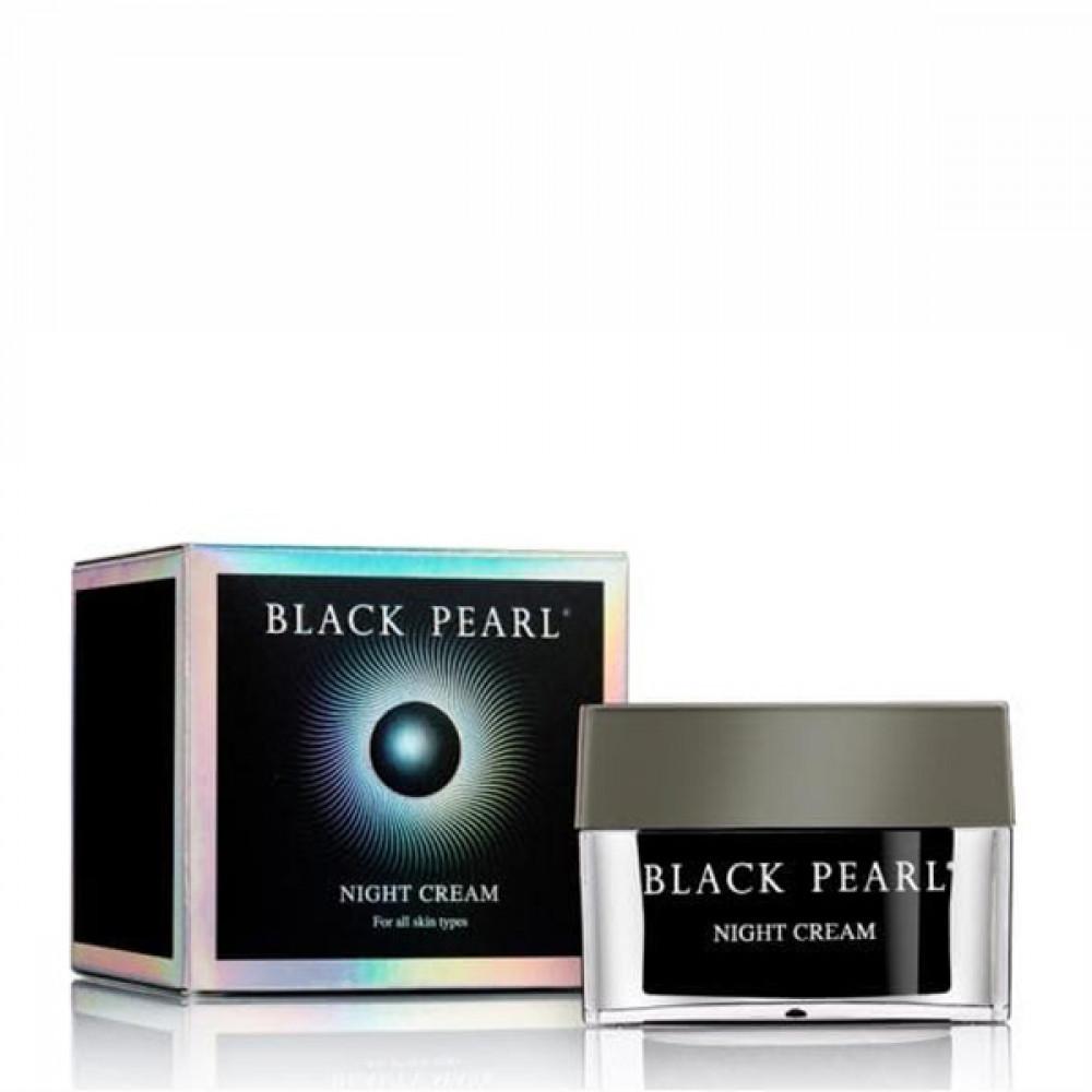 Крем ночной питательный против морщин для нормальной и сухой кожи Black Pearl от Sea of Spa