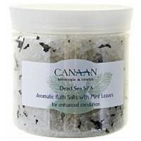 Ароматическая соль для ванн с лепестками мяты Canaan 550 ml