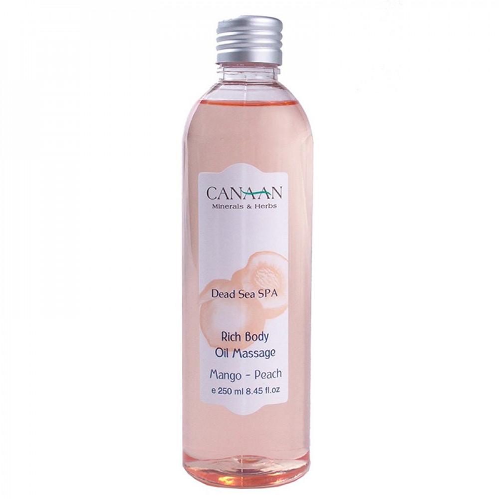 """Насыщенное массажное масло """"Манго & Персик"""" Canaan 250 ml"""