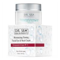 Укрепляющий крем Dr. Sea SPF 15 для кожи лица и шеи с экстрактом граната и имбиря 50 мл