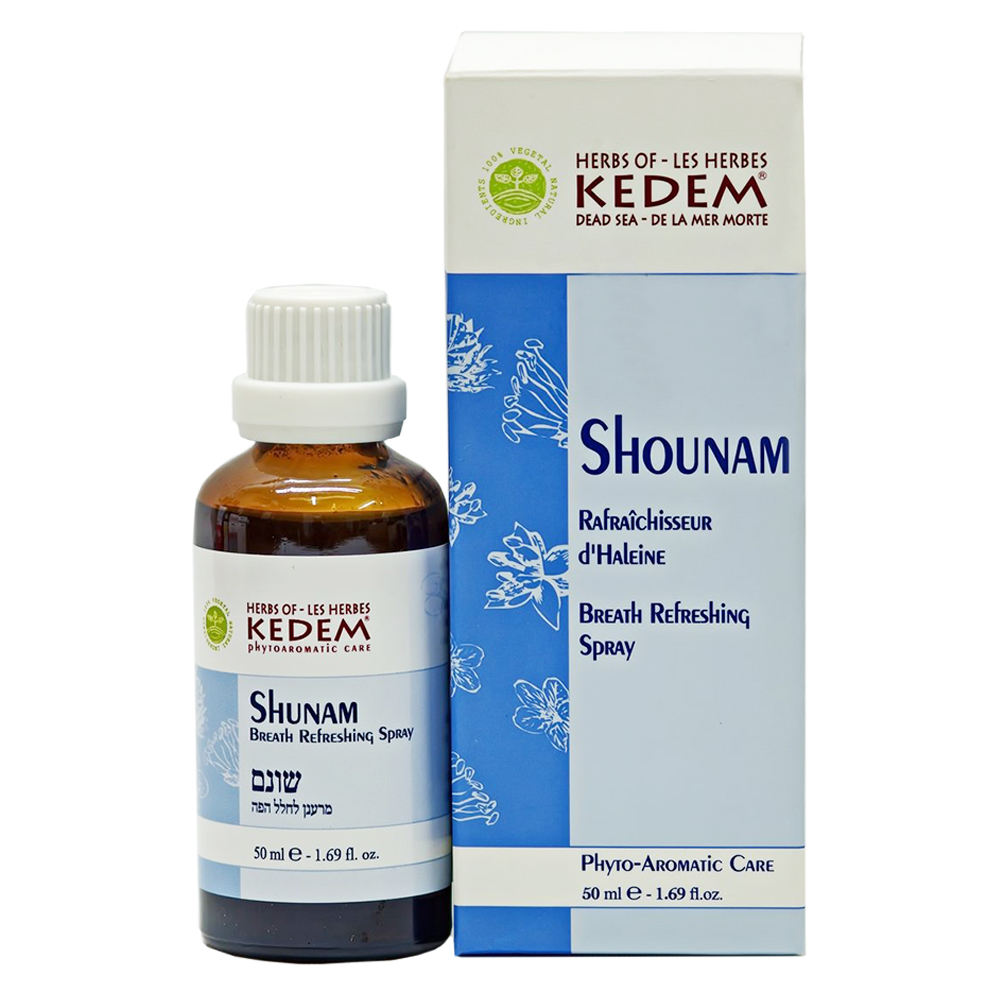 Спрей для свежести дыхания и облегчения кашля Kedem Shunam