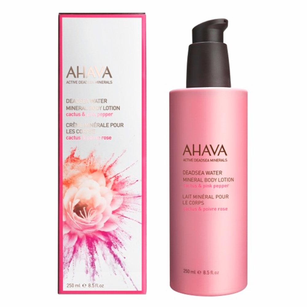 Минеральный крем для тела кактус и розовый перец Ahava Deadsea Water