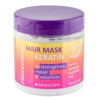 Профессиональная маска Sea of Spa с кератином для окрашенных волос 500 мл
